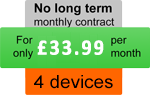 Family pack, four devices - For only £33.99 per month